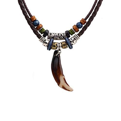 NWQEWDG - Collar de cadena ajustable para hombre, color marrón