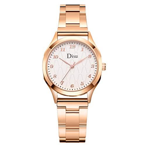 2019 Mode Damen Minimalistisches Uhren Automatik Armbanduhr mit Edelstahl Casual Klassisch Uhr Frauen Outdoor Damenuhr Geschenk LEEDY