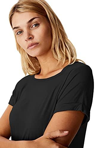 Fabricorn Plain High Low Hem Cotton Tshirt for Women