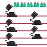 Rantecks  5PCS 12V Portafusibles en línea 12AWG Arnés de c