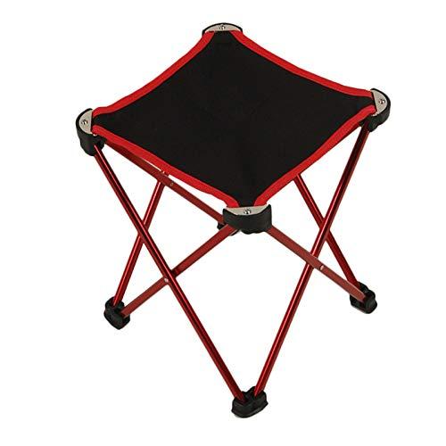 XYJNN Sgabello Pieghev Sgabelli da Campeggio  Pesca Campeggio Picnic Spiaggia Sgabello Portatile Pieghevole Oxford Panno Materiale in Lega di Alluminio (Color : Red)