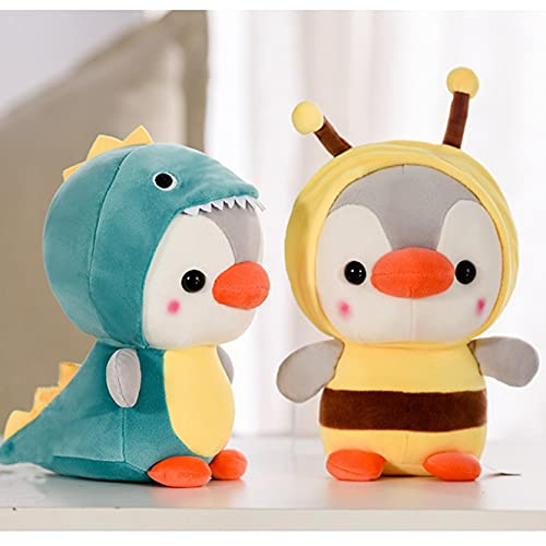 Penguin Stuffed Animal Toy in Dinosaur Costume, Cute Plush Toys for Kids Stuffed Animals Gift for Lover, Boys and Girls Birthday 5 Inch (Penguin Frog)
