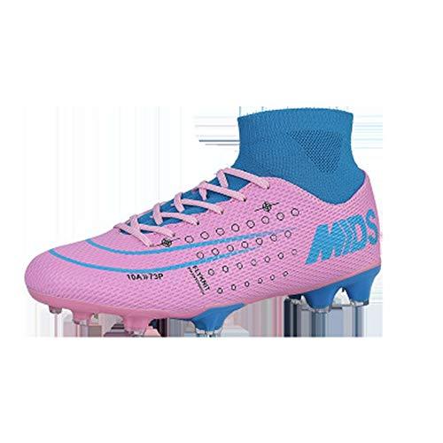 Botas de fútbol, Zapatos de fútbol de Alta Gama Calcetines Tejidos para la Cara FG clavan Zapatos de Entrenamiento para Hombres nuevos