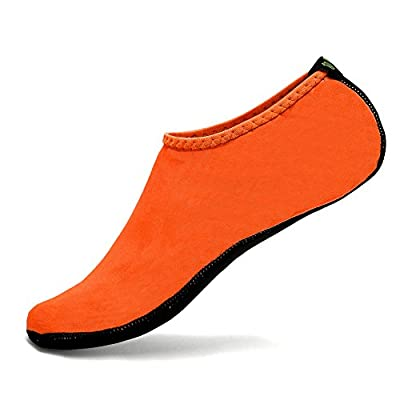 CIOR Water Skin Shoes Aauq Socks With New Upgraded Durable Outsole, XS: US Little Kids 11.5-13 M, Orange