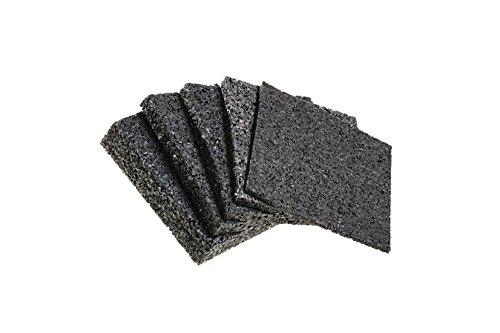 Terrassenpads 90 x 90 x 3mm 6mm 8mm 10mm 20mm! Stärke und Menge auswählen !! (90 x 90 x 10mm Menge: 25 Stück)