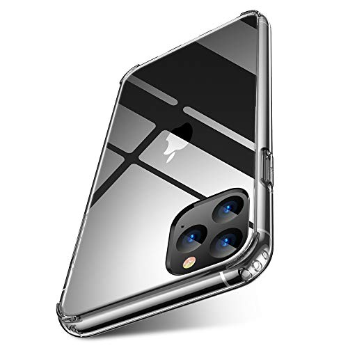 iPhone 11 pro max case Clear 2019 6.5 inch FLOVEME PC TPU Ultra Comfort-Grip Cell Phone Cases Compatible for Apple iPhone 11 Pro Max Protective Case Cover Basic Accessories Support Wireless Charging
