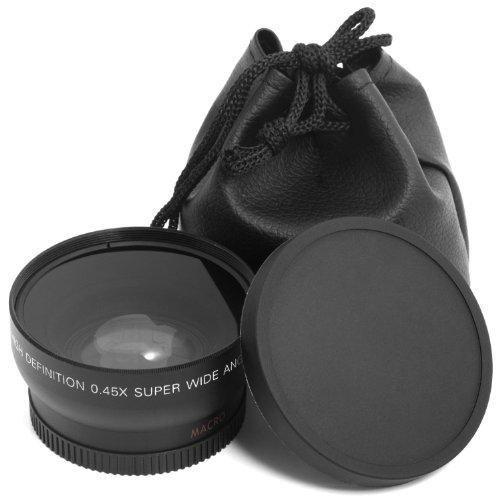 XCSOURCE Makroobjektiv mit großem Öffnungswinkel 0,45x 52mm + Tasche für Nikon Kameras: D4, D3X, D800, D700, D600, D300s, D300, D7100, D7000, D5200, D5100, D5000, D3200, D3100, D3000, D90, D80, D70, D60, D50, D40, LF36