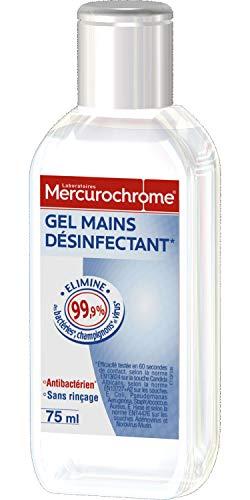 MERCUROCHROME - Gel Mains Désinfectant, 75 ml