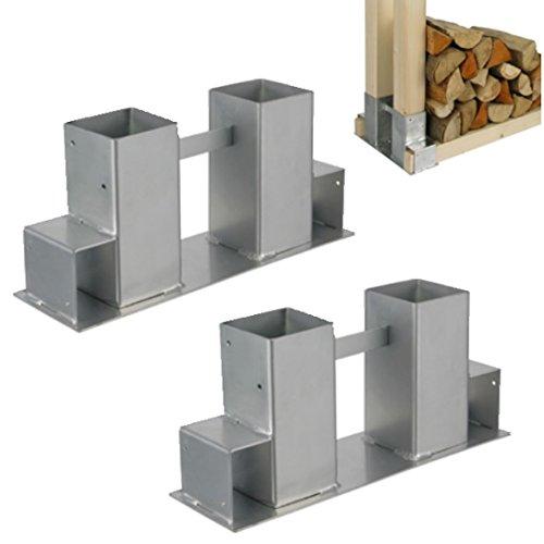 Stapelhilfe 2Stk. Holz Holzstapelhalter Kaminholzhalter Brennholz Kaminholzregal