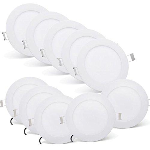 [10 Stück]Ultraslim Runde LED Panel Einbaustrahler Lampe Deckenleuchte Spot 9W Kaltweiß