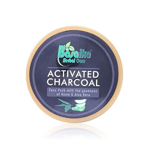 Basaika Herbal Care Parabeen-Less Activated Charcoal Face Scrub with Natural Ingredients for Men & Women (50 G)