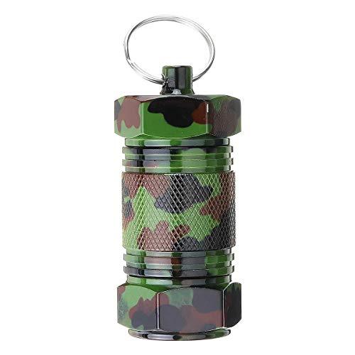 EDC-Tools Box Schlüsselbund Legierung Wasserdicht versiegelt Taschen-Behälter Keychain Kasten-Flaschen-Stash-Halter Mini-Halter Handwerkzeuge (Farbe : Camouflage)