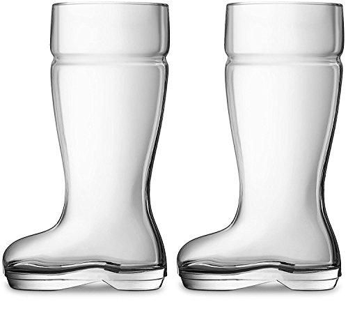 plastic boot beer glass - 1