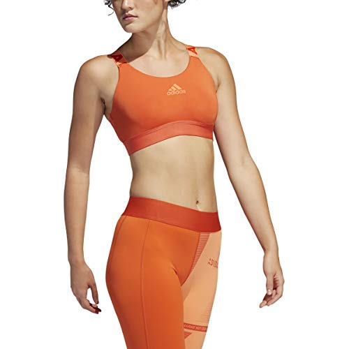 adidas Women's Don't Rest Branded Bra Glory Amber Small