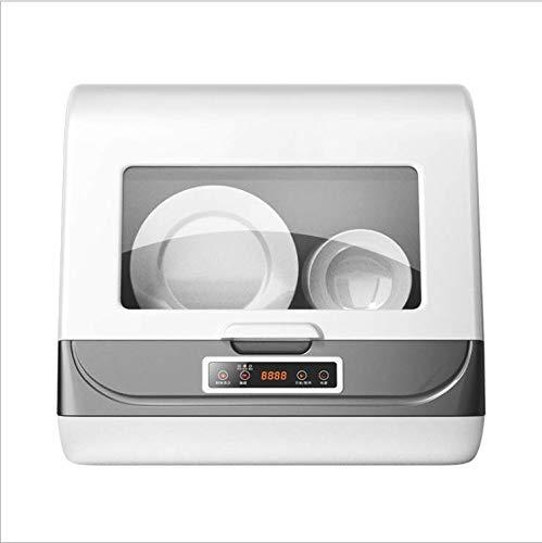 Kacsoo Lavavajillas multifuncional inteligente portátil 8L hogar mini lavadora recargable eléctrica para 1-6 personas, baja o alta temperatura doble desinfección, instalación gratuita