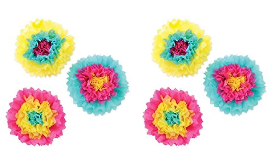 Beistle 52215 6Piece Tissue Flowers, 10