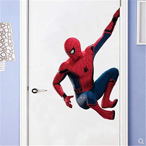 Avengers Wandaufkleber Spider-Man 3D Stereo Wallpaper Marvel Wallpaper Selbstklebend Wasserdicht Einfach Modern Türaufkleber-60 * 90cm…