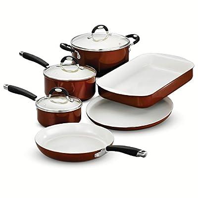 Tramontina Cookware/Bakeware Set Ceramica 9 Piece, Metallic Copper, 80110/221DS