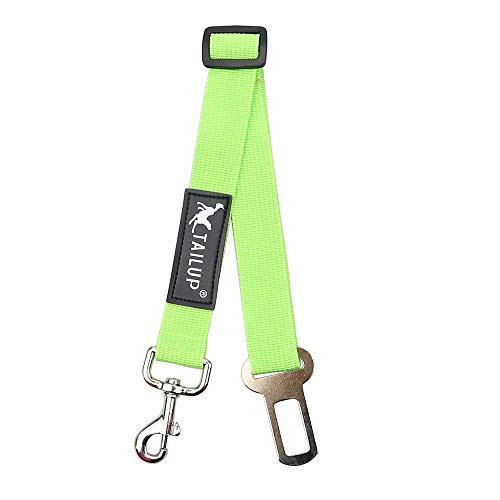 LOSVIP Einstellbare Hund Haustier Auto Sicherheitsgurt Rückhalteleine Reiseleine(Grün,L)