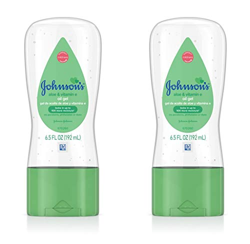 Johnson's Baby Gel Oil with Aloe & Vitamin E, 6.5 Ounces (Pack of 2)