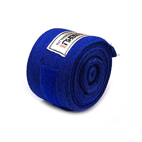 Andux 2pcs / Set Cotone Muay Thai Sanda Bandage Sport Sudore Mani Bende Karate Taekwondo Sanda Bandage Guanto Protezione della Mano SDBD-01