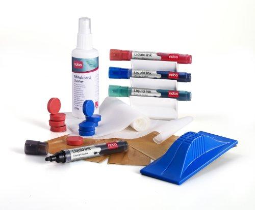 Nobo Whiteboard-artterset (marker, tafelwisser, reinigingsspray) Met magneten multicolor