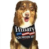 Xiojeiey Hillary for Prison Pet Bandana Scarf Triangle Bibs Kerchief Set Pet Costume Accessories Decoration for Small Medium Large Dogs Cats Pets Dog Bandana