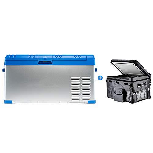 Peaceip Mini-koelkast voor thuis, compressor voor thuis, dual gebruik, grote capaciteit, digitaal display, intelligente elektrische koeling voor auto, vrachtwagen, camper, boot