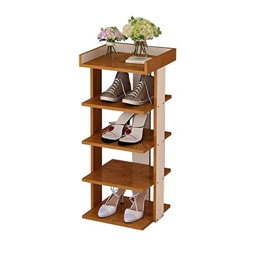 HLL Estante de madera multifuncional para zapatos, estante para polvo minimalista moderno, zapato de almacenamiento de múltiples capas simple, gabinete simple para el hogar