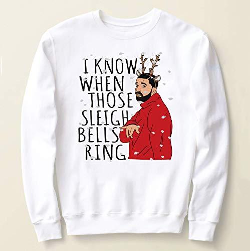 Drake Ugly Christmas Sweater, I Know When Those Sleigh Bells Ring Sweatshirt, Drake kiki Christmas funny shirt, Funny Christmas Sweater
