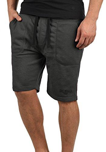 Blend Juve Herren Sweatshorts Kurze Hose Jogginghose Mit Melierung Und Kordel Regular Fit, Größe:XXL, Farbe:Pewter Mix (70817)
