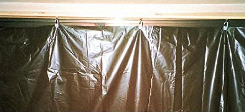 広々差し迫ったうめき養生カーテン?日除カーテン ポリエチ製 2.4m×1.85m 濃茶 【100枚セット】 (日よけカーテン)