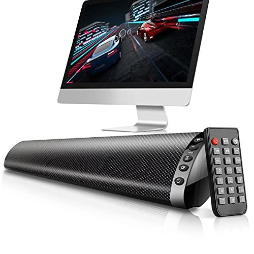 Altavoz Bluetooth de barra de sonido, altavoz inalámbrico Bluetooth, altavoz de cine en casa con Bluetooth, TF USB de 3,5 mm de fibra RCA para altavoces de TV, cine en casa, juegos, proyectores