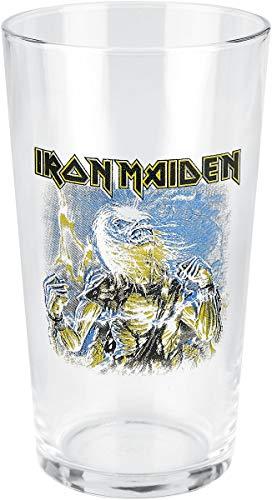 Iron Maiden Live after death Unisex Vaso de cerveza transparente, vidrio, 0,5 l