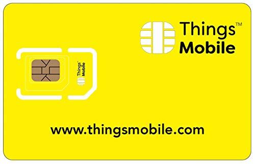 Tarjeta SIM sin COSTES FIJOS - Things Mobile - con cobertura global y red multioperador GSM/2G/3G/4G, sin vencimiento y con tarifas competitivas. 10 € de crédito incluido