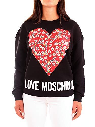 Love Moschino Sweatshirt Maglia di Tuta, Black, 38 Donna