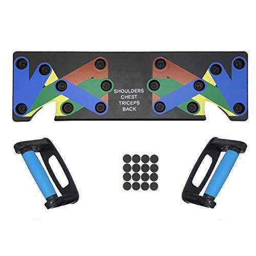 SLN Push Up Board, 9 en 1 Muscleboard Multifonction,Outils De Musculation pour Les Entraînements à Domicile,Faciles à Assembler Et à Ranger(Noir)