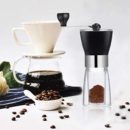 Queta Kaffeemühle Manuell, Tragbar Verstellbarer Präzise Mahlgradeinstellung stufenlos Handkaffeemühle aus Edelstahl Geeignet Für Jeder Anlass