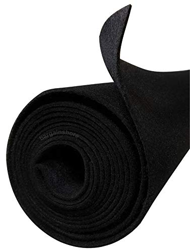 Polymat Audio 3ft 48' Wide Black Sub Woofer Speaker Box Enclosure Carpet and Trunk Latex Backed Liner