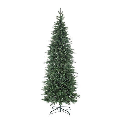 Milo srl Albero di Natale Pino Slim Cernera Verde Realistico 210 Cm Super Folto Natalizio in Polipropilene (210 cm)