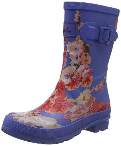 Joules Damen Molly Welly Gummistiefel, Blau (Blue Floral Bluflrl), 39 EU