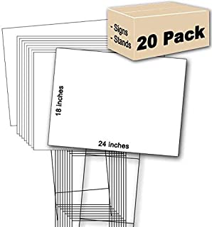 20 White Signs 18''x24'' & 20 Double H 10''x30'' Stakes