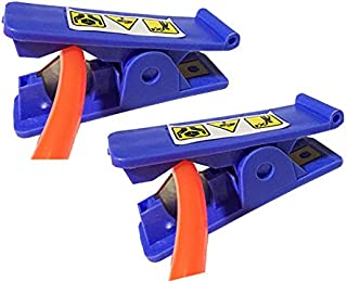 """Hose Cutter PVC Nylon Plastic Rubber Tube Cutter Air Hose Cutting up Scissor to 1/2"""" OD, Blue, 2PCS"""