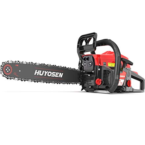 HUYOSEN 54.6CC 2-Stroke Gas Powered Chainsaw,...