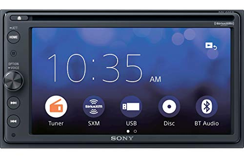 Sony XAVAX210SXM 6.4' Apple Car Play Android Auto CD /DVD Receiver with Bluetooth