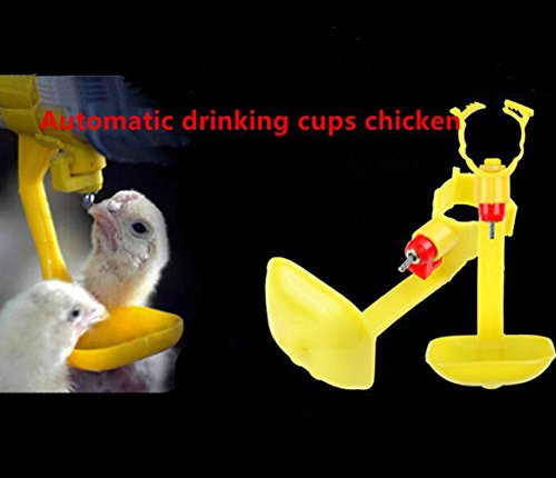 Adhere To Fly 10 PCs Trinkbecher Chicken Hanging Automatische Wasserschale Nippel Trinker Chicken Farming Equipment Farm Tools - 5