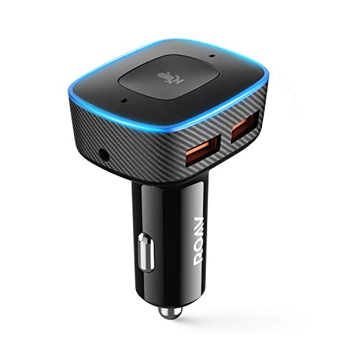 Roav Viva Pro, by Anker, Alexa-Enabled 2-Port USB Car Charger for Navigation, Voice Initiated Calling, and Music Streaming. for Cars with Bluetooth/CarPlay/Android Auto/Aux-in/FM Reception (Renewed)