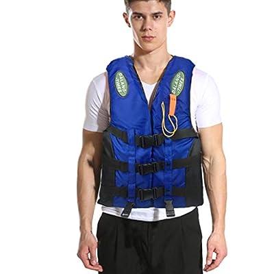 Huilaibazo Life Vest for Adults, Adjustable Safety Buckles Women Men Life Jacket Kayak Aid Vests for Fishing Boat Buoyancy