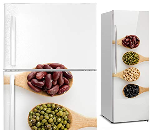 DON LETRA Vinilos para Neveras y Frigoríficos, 185x60cm, Decoración para Cocina, Vinilo Impermeable, VIN-NVR-02