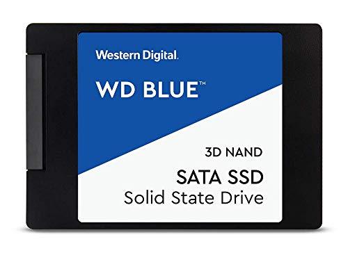 WD Blue SATA SSD 4 TB, 2,5 Zoll (interne SSD, hohe Zuverlässigkeit, Lesevorgänge bis zu 560 MB/s, Schreibvorgänge bis zu 530 MB/s, stoßsicher und WD F.I.T. Lab-zertifiziert)